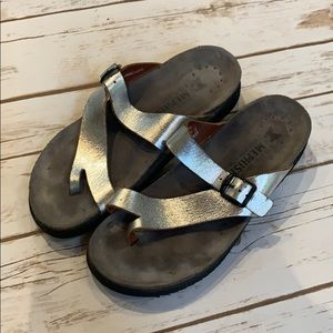 Mephisto Helen Silver Sandals used Condition